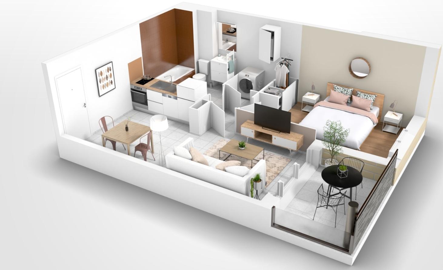 Bel Appartement T2 Castelmaurou